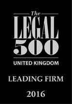 The Legal 500 - Leading Firm 2016