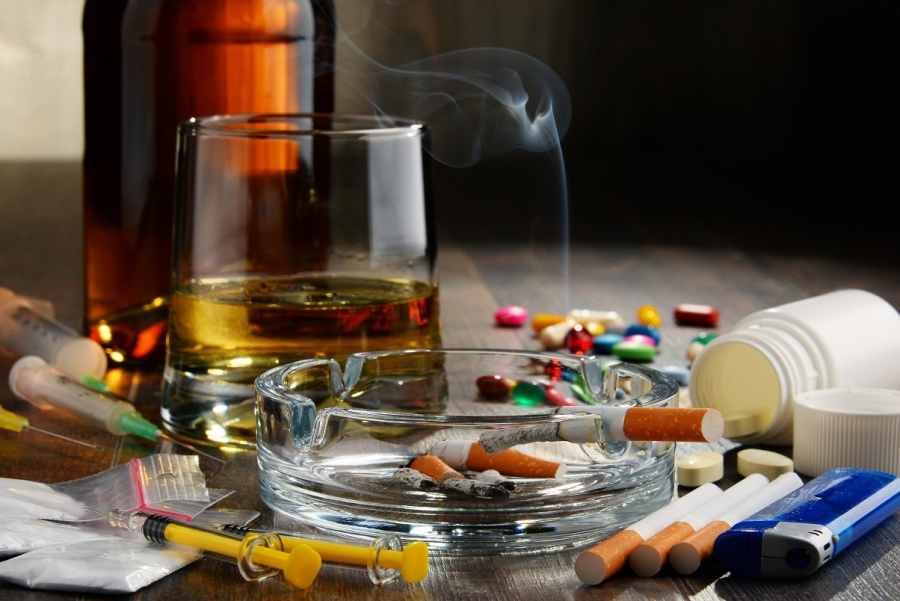 The use of alcohol or drugs by employees.