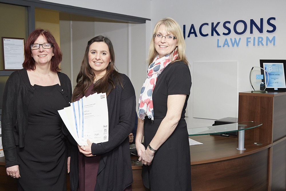 Jacksons Law Firm supports young apprentice
