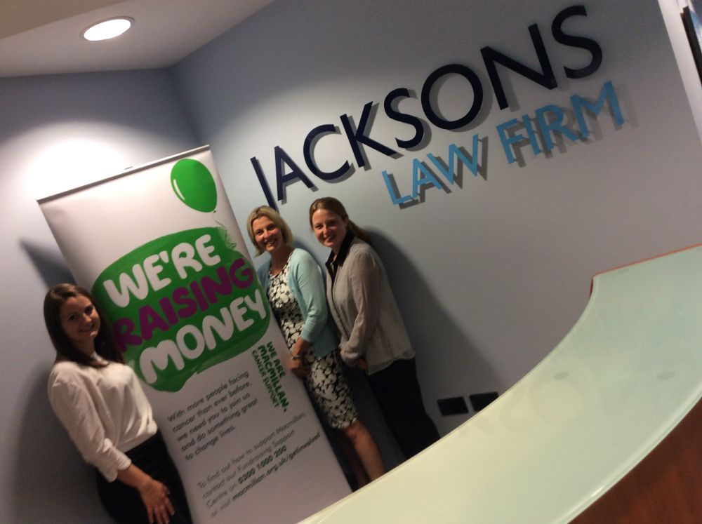 Macmillan Cancer Support and Jacksons Law Firm Announce Fund Raising Partnership
